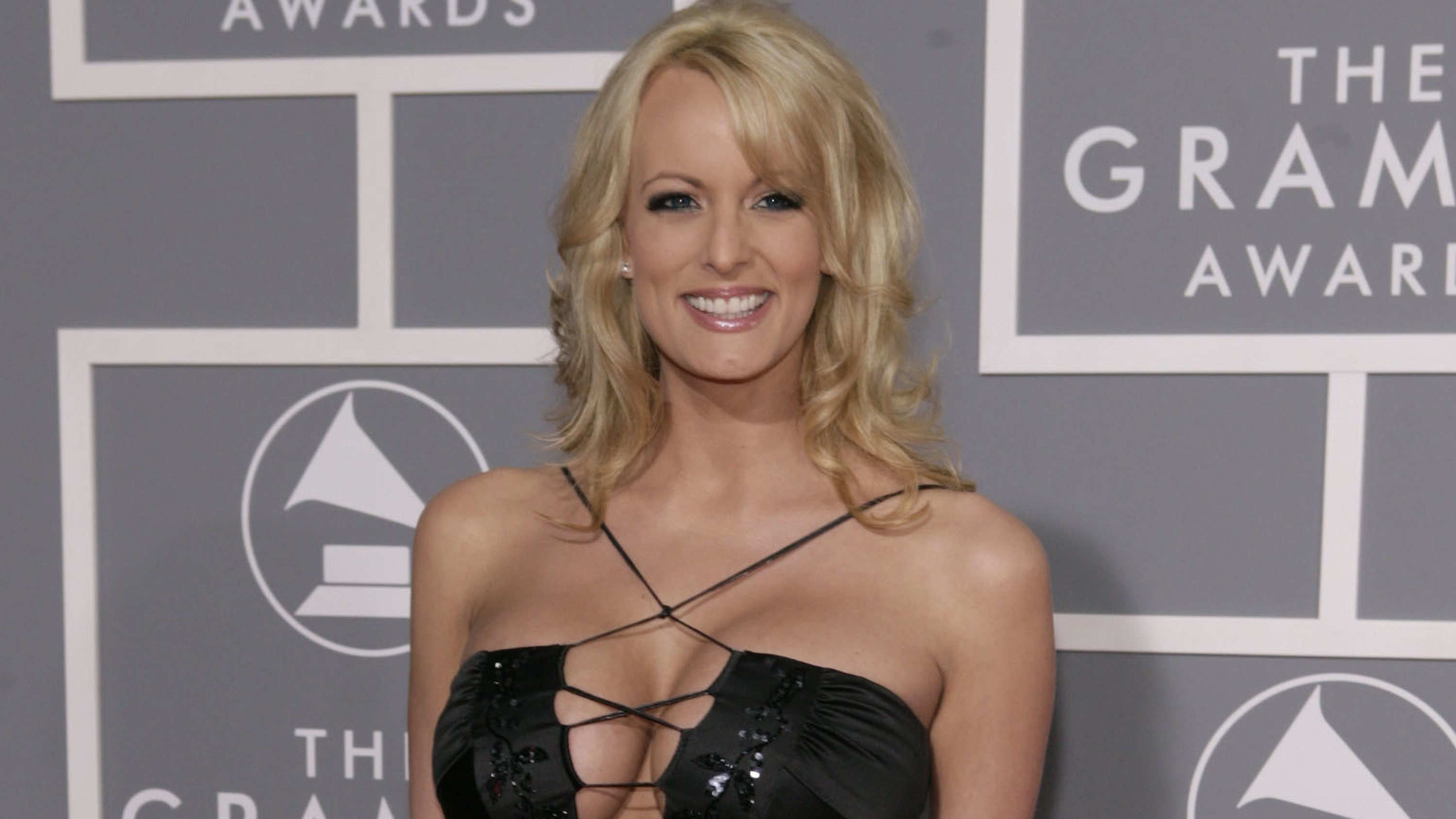In this Feb. 11, 2007, file photo, adult film actress Stormy Daniels arrives for the 49th Annual Grammy Awards in Los Angeles.