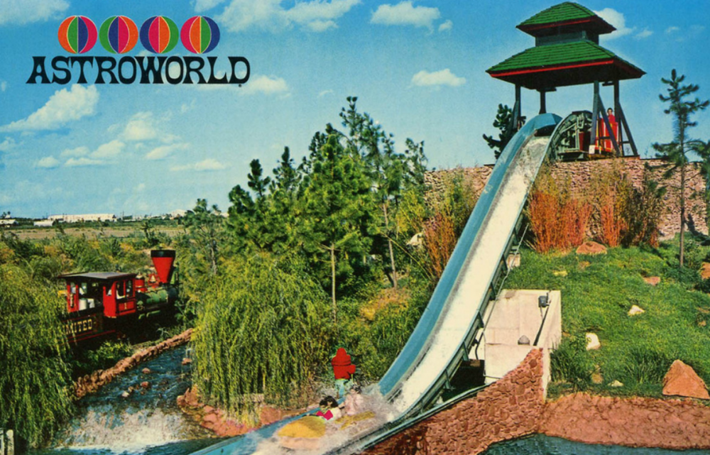 The Bamboo Shoot ride at AstroWorld.