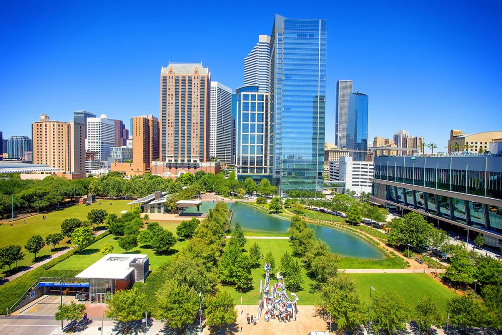 Discovery Green from the Sky