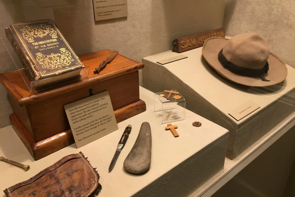Sam Houston Artifacts