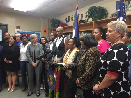 At the press conference with U.S. Rep Sheila Jackson Lee, D-Houston, several members of local higher education institutions, including Houston Community College, said that they are ready to support HISD.