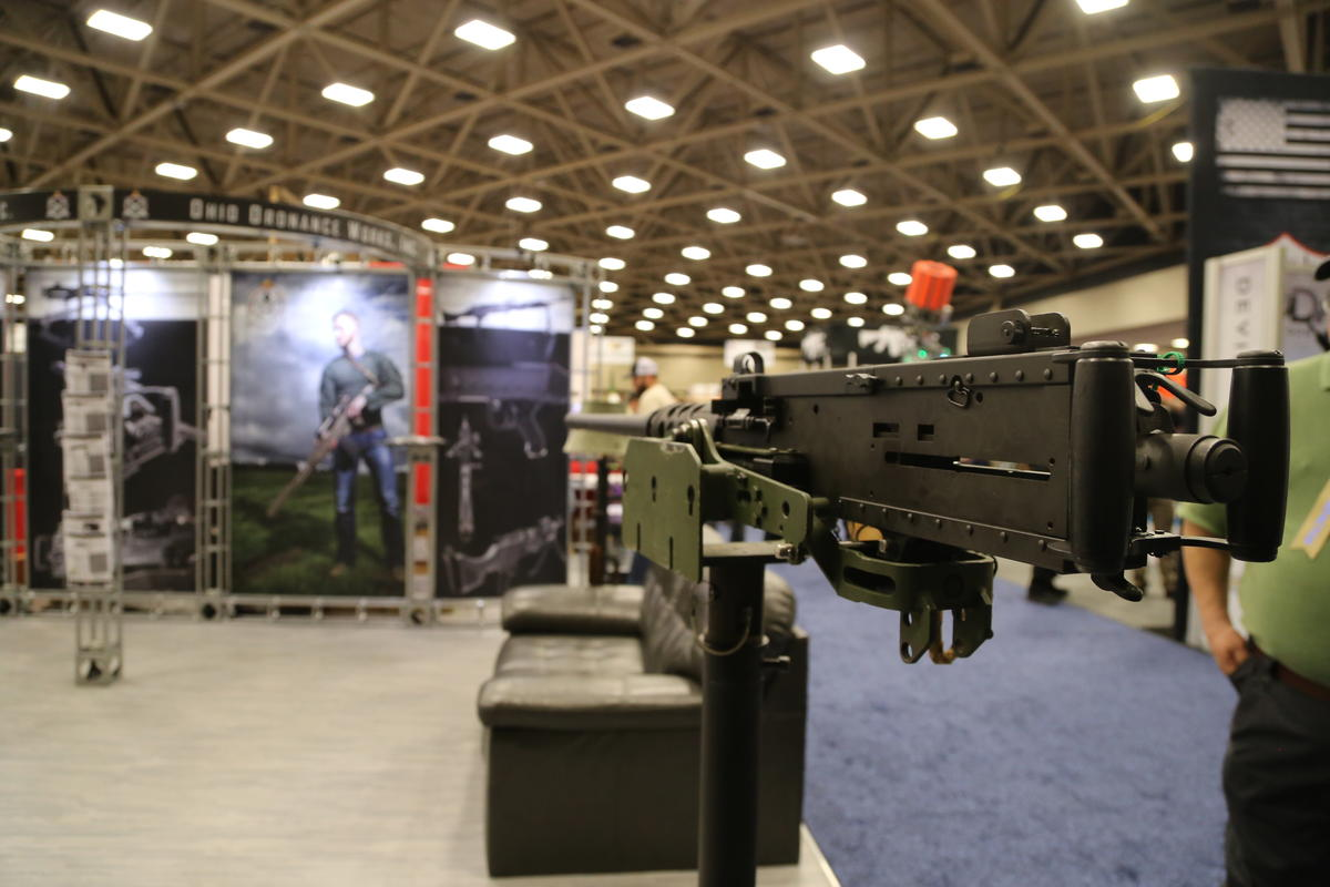 A scene from inside the NRA's exhibition hall at the Kay Bailey Hutchison Convention Center on Friday.