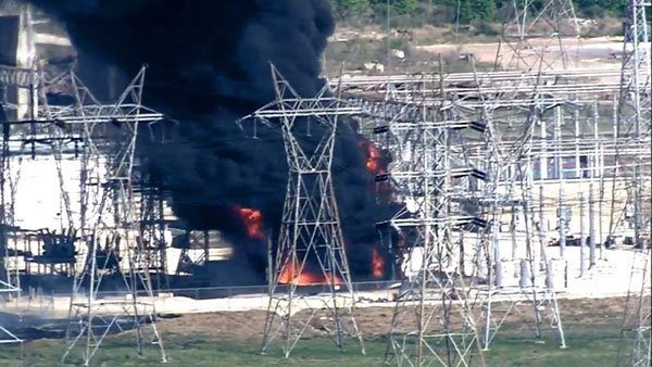 Fire at CenterPoint substation in Texas City