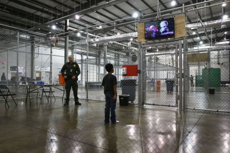 Child at a Detention Center