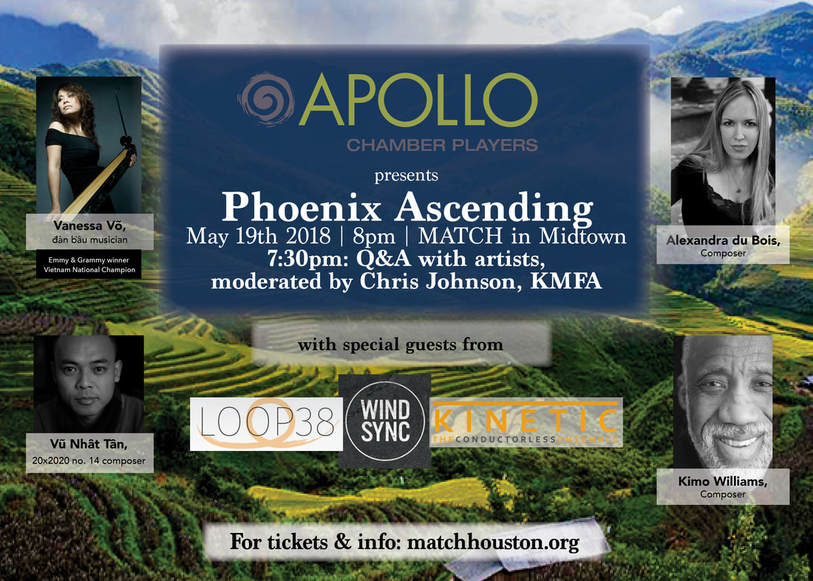 Poster for the Apollo Chamber Players' Phoenix Ascending
