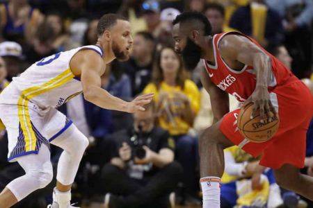 Steph Curry Defends James Harden