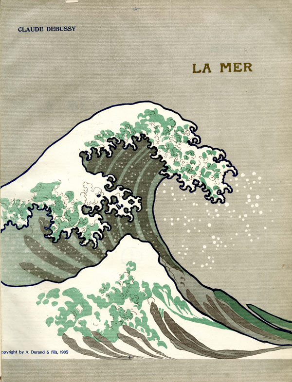 "The 1905 edition of Debussy's ""La Mer"" after Hokusai's ""The Great Wave"""