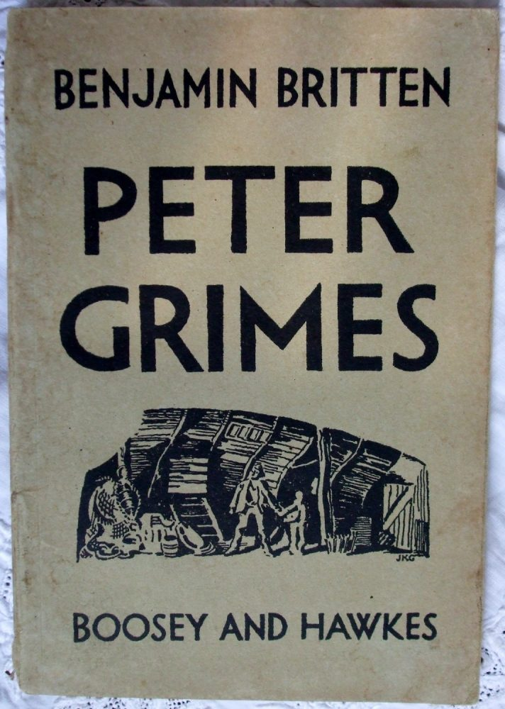"Early edition of the libretto for Britten's ""Peter Grimes"""