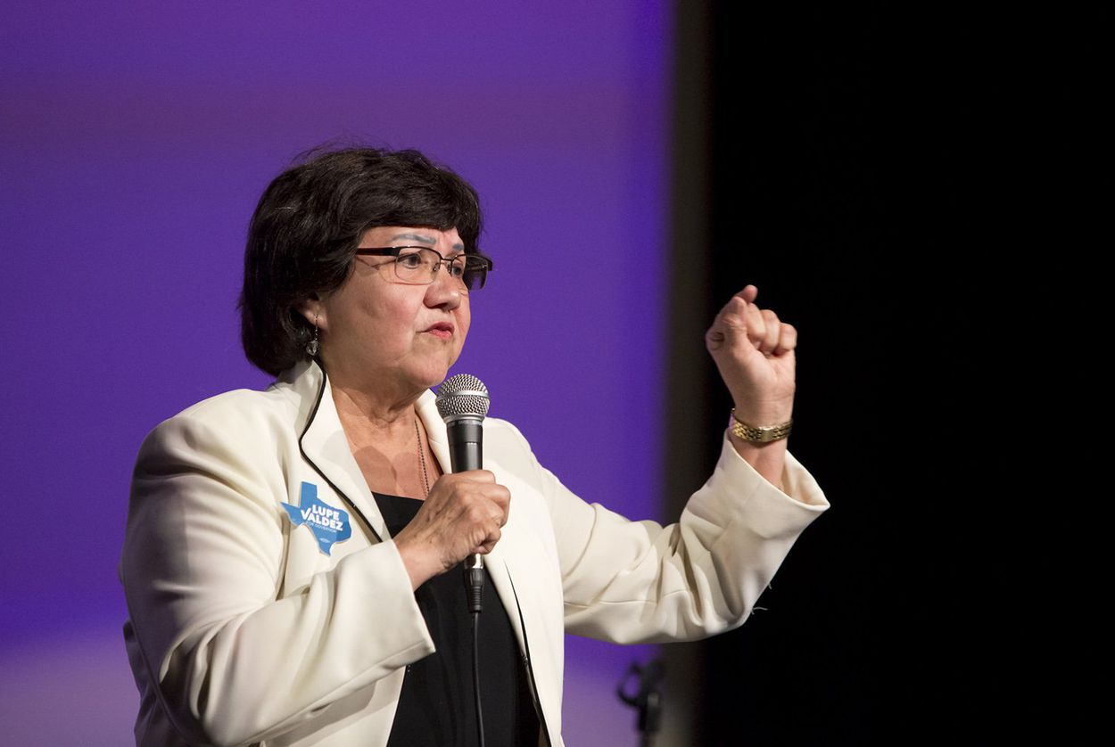 Democratic candidate for governor Lupe Valdez during a Jolt the Vote event in Austin on April 29, 2018.