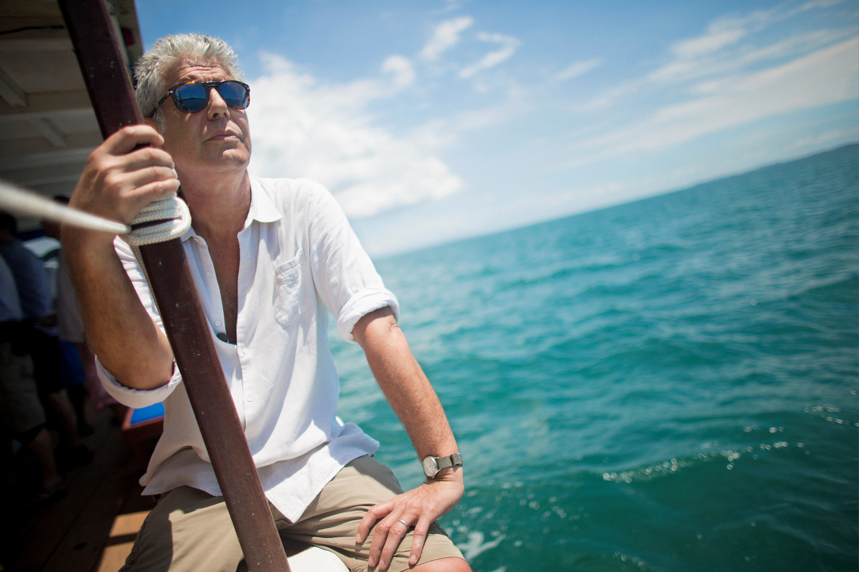 Anthony Bourdain travels in Salvador, Brazil, for CNN's Anthony Bourdain: Parts Unknown in 2014.