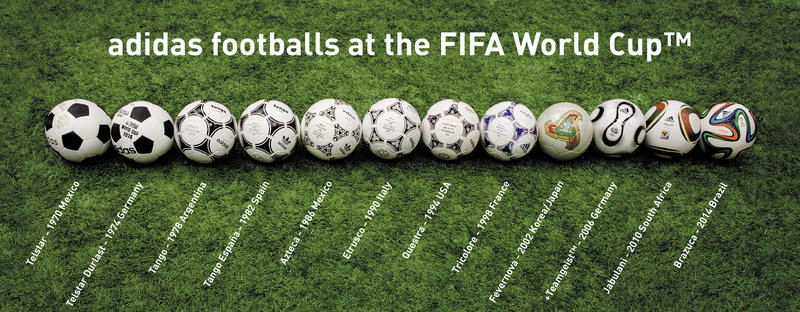 The World Cup ball has been produced by Adidas since 1970.