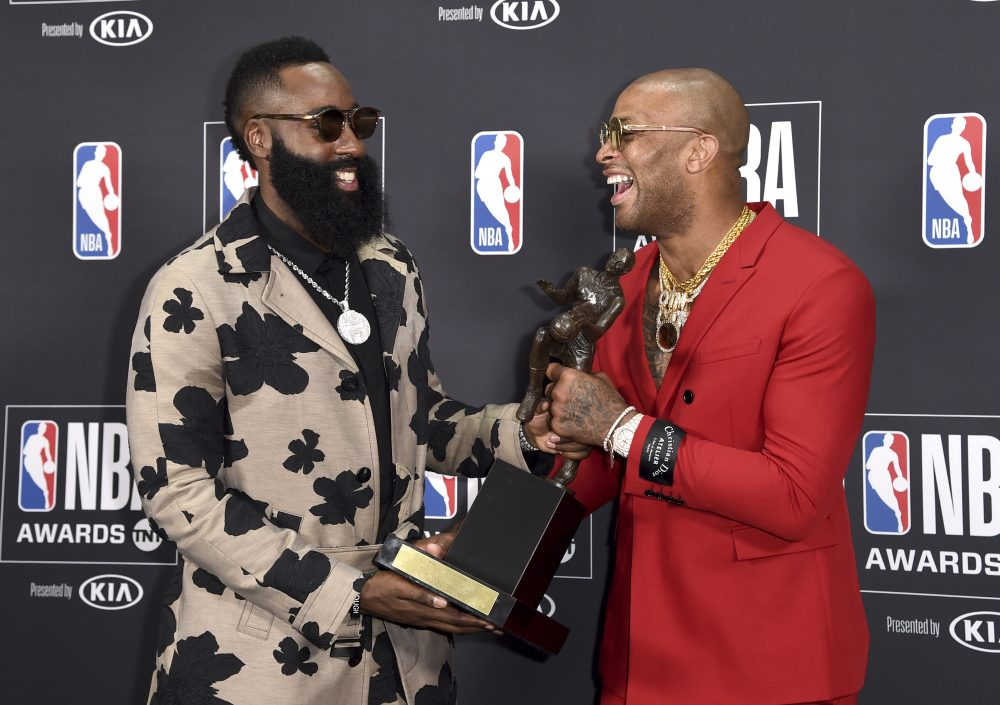 5f6ed0c3dfd1 Houston s James Harden Wins NBA MVP Over Lebron James. Harden received a  total of ...
