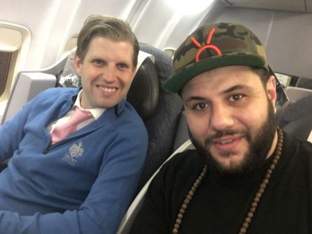 Comedian Mo Amer With Eric Trump