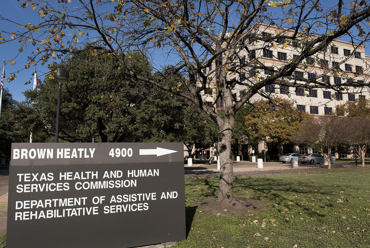 A Health and Human Services Commission building in Austin.