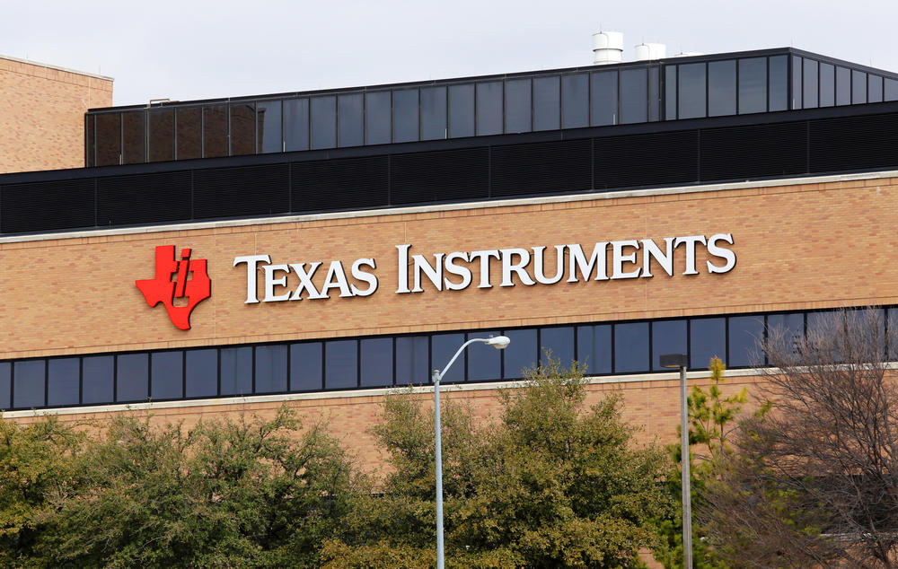 The exterior of Texas Instruments in Dallas, Texas.