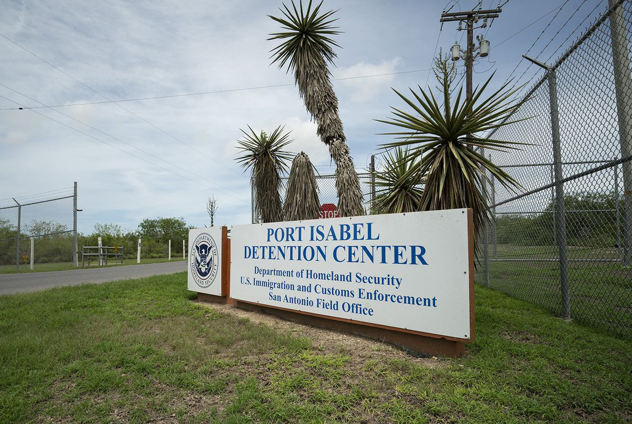 The main entrance to the Port Isabel Detention Center on Sunday, June 24, 2018. Port Isabel is about 20 miles northwest of Brownsville.