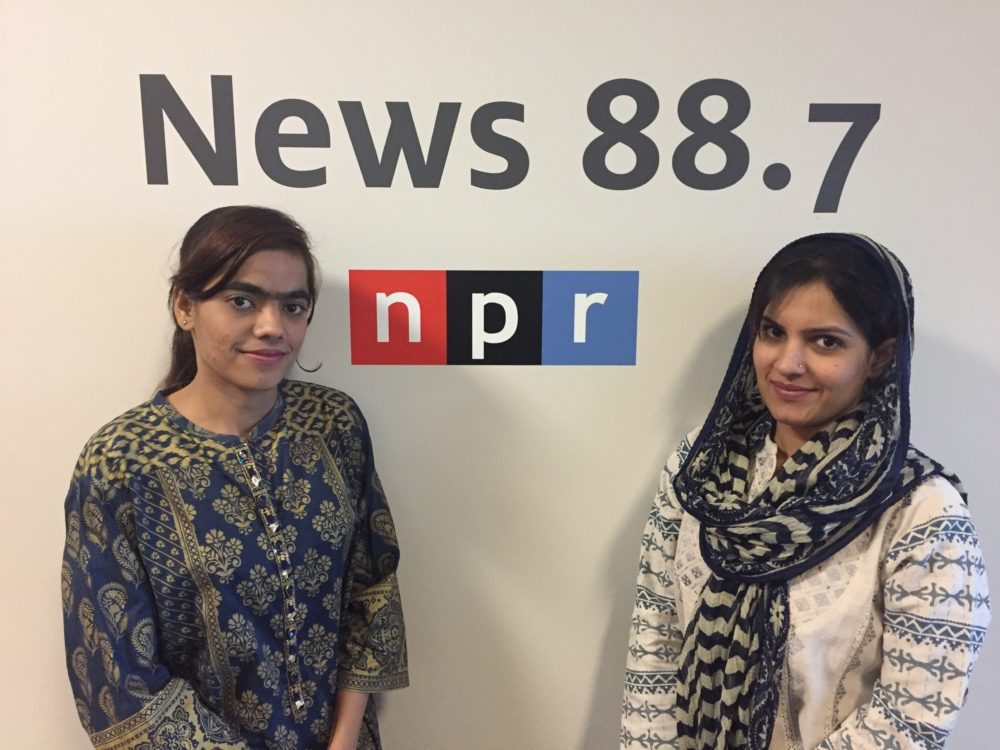Eisyan Bibi Baloch with Radio Pakistan and Shahnila with Suno FM Radio Network participated in the U.S.-Pakistan Professional Partnership in Journalism at Houston Public Media.