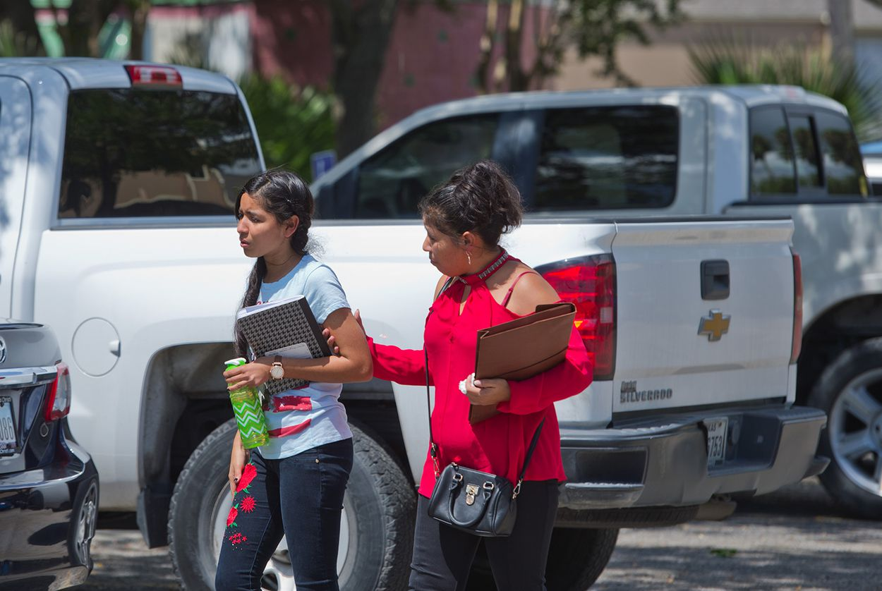 Mercedes (right), a Salvadoran asylum seeker, is reunited with her daughter, Maria in Corpus Christi on July 13, 2018. The two were separated by U.S. authorities after crossing the Texas-Mexico border in mid-May.