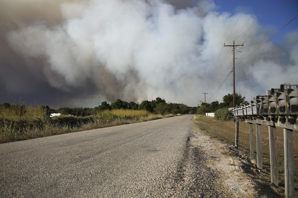 A view of the 2015 Hidden Pines Fire in Bastrop County.
