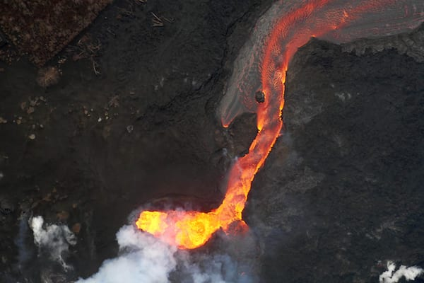 Kilauea Lava Flow From The Air