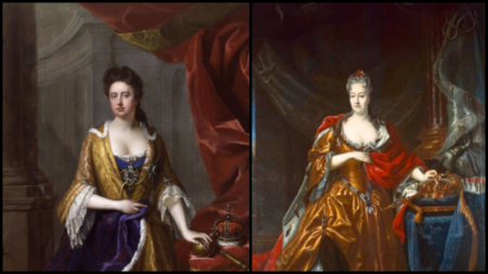 Paintings of Queen Anne and Queen Christiane Eberhardine