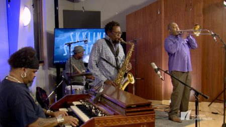 The Houston Jazz Collective All Stars perform in the Geary Studio