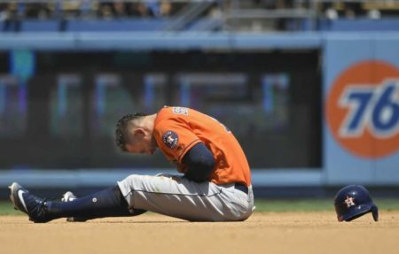George Springer Injures Hand - Getty Images