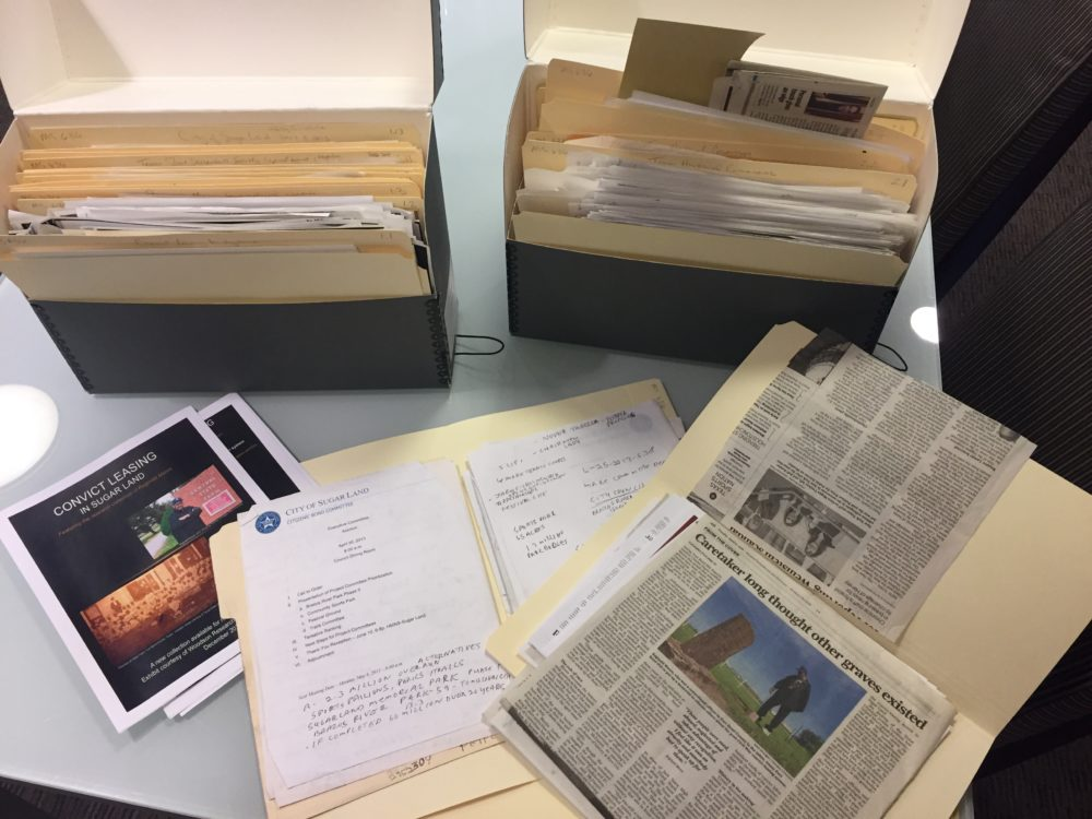 Since 2015, Rice University archivists have been collecting and cataloging Reginald Moore's work to preserve the history of convict leasing in Sugar Land.