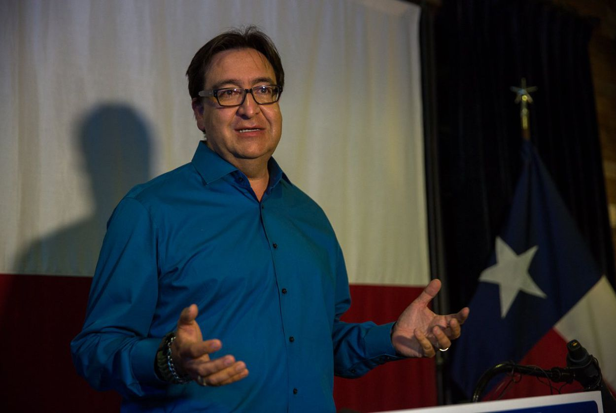 Former US Rep Pete Gallego, D-Alpine, concedes the 2016 Texas 23 Congressional District race to Will Hurd, a San Antonio Republican, on Nov. 9, 2016.