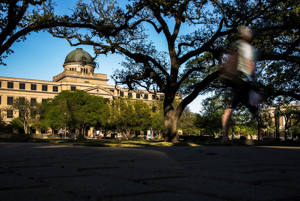 The Academic Building on the Texas A&M University campus on March 26, 2018.