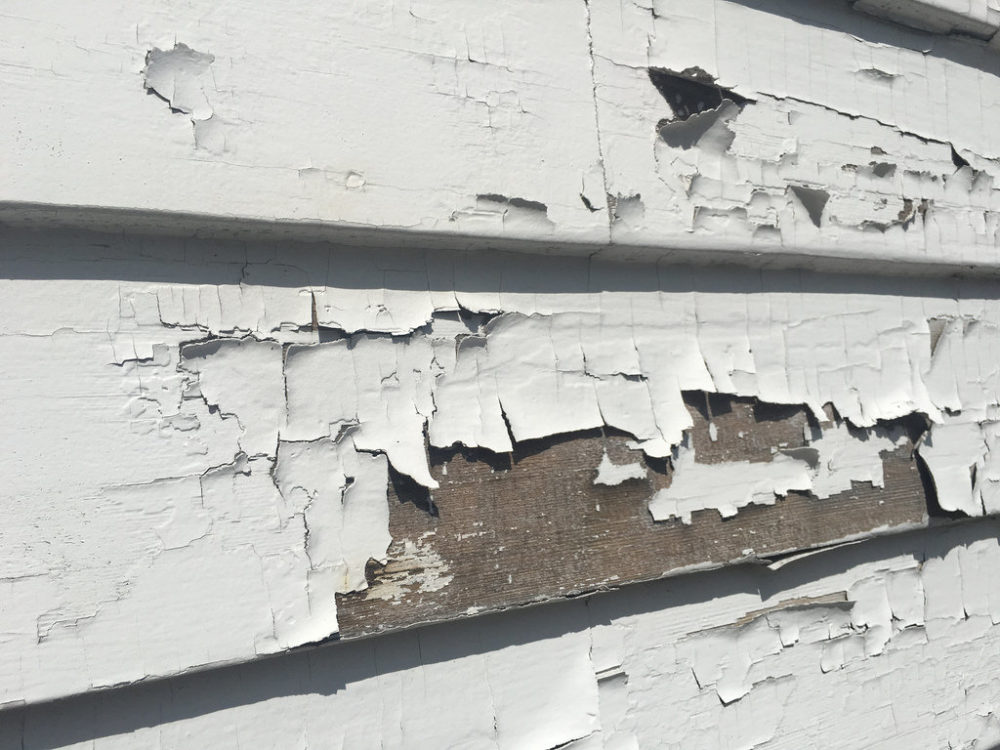 Lead poisoning can happen when young children eat chipped-off pieces of lead paint.
