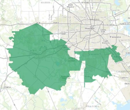 This map shows the Texas 22 Congressional District.