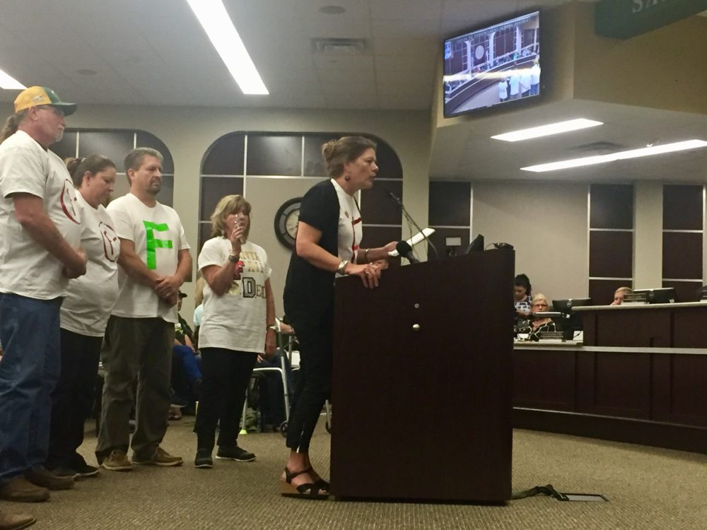 Parent Kenzie Conway blasted the Santa Fe School Board for how the district handled a recent security scare.