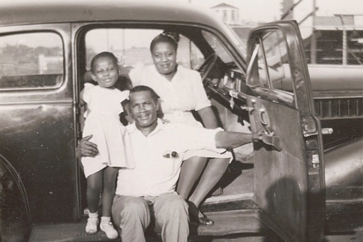 African-American Family Traveling