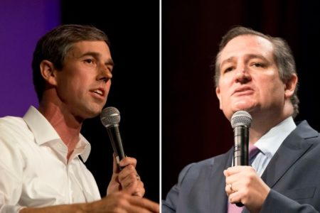 U.S. Rep. Beto O'Rourke, D-El Paso (left), is challenging Republican incumbent U.S. Sen. Ted Cruz.