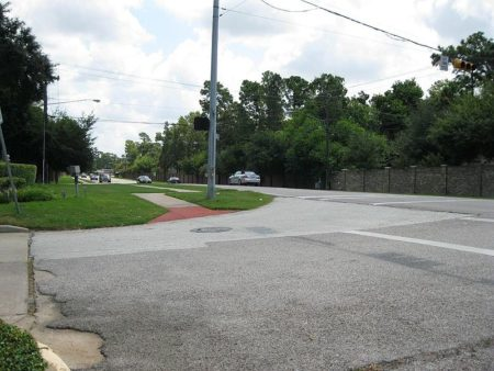 Intersection of Memorial Drive at West Forest.