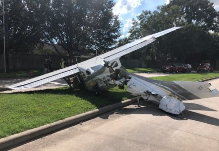 A DEA airplane crashed in Sugar Land on Sept. 19, 2018.