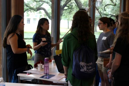 Rice University junior Meredith McCain joins Houston students in discussions about voting and policies. McCain helped organize the inaugural Houston Youth Voters Conference.
