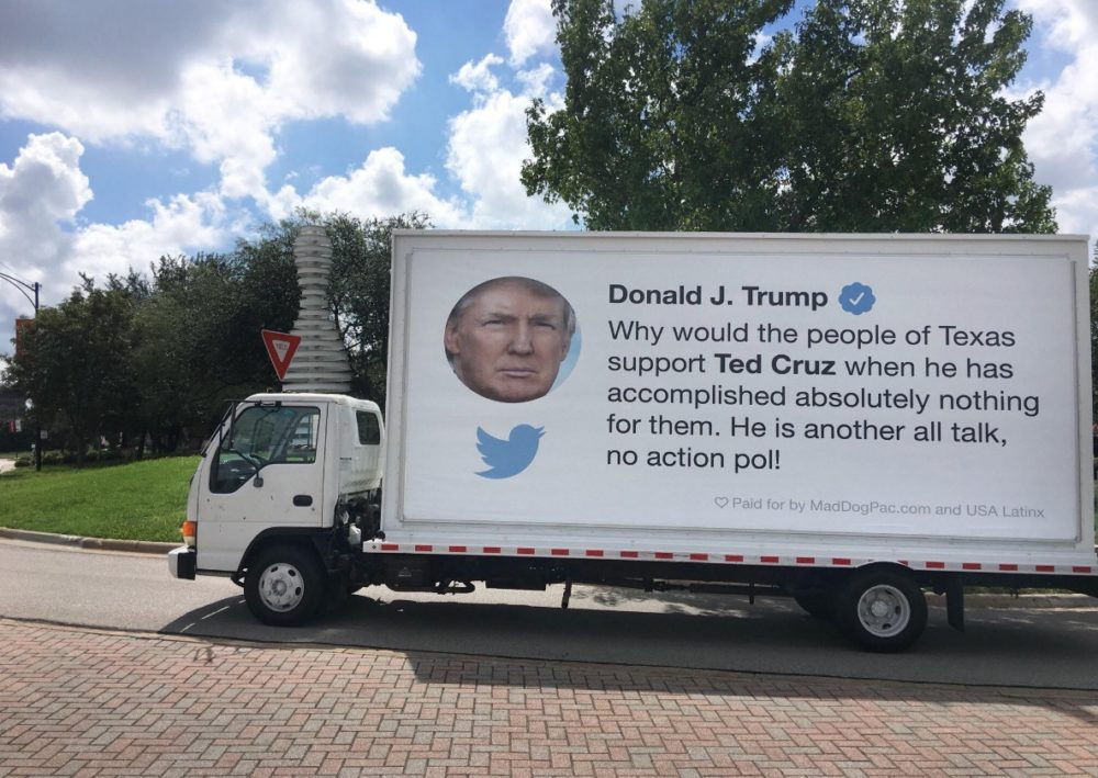 The 'Trump Tweet Truck'.
