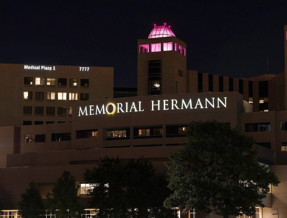 This photo shows one of the hospitals that are part of the Memorial Hermann health system.