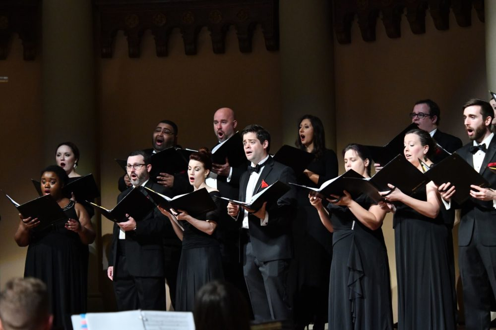 The Houston Chamber Choir in concert.