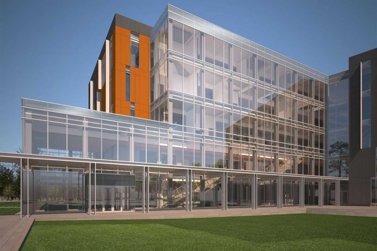 An artist's rendering of the proposed College of Osteopathic Medicine at Sam Houston State University, which will be located in Conroe.