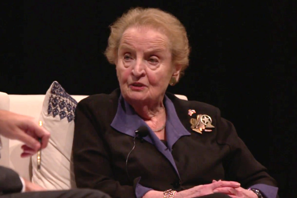 Madeleine Albright at the Bush Library