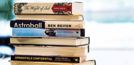 Stack of books by Jewish authors