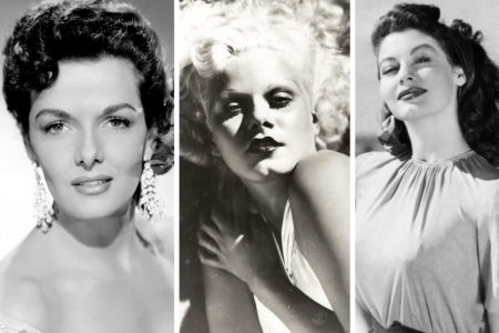 Jane Russell, Jean Harlow, and Ava Gardner