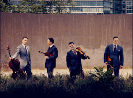 Publicity photo of Jersualem Quartet outdoors