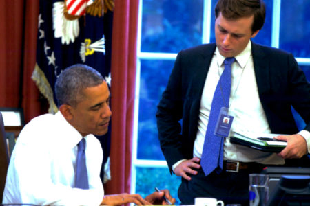 Pres. Obama and David Litt in the Oval Office