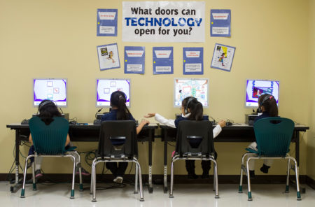Students in technology class at Walnut Bend Elementary school. There's growing demand for computer science teachers at all grade levels in Greater Houston.