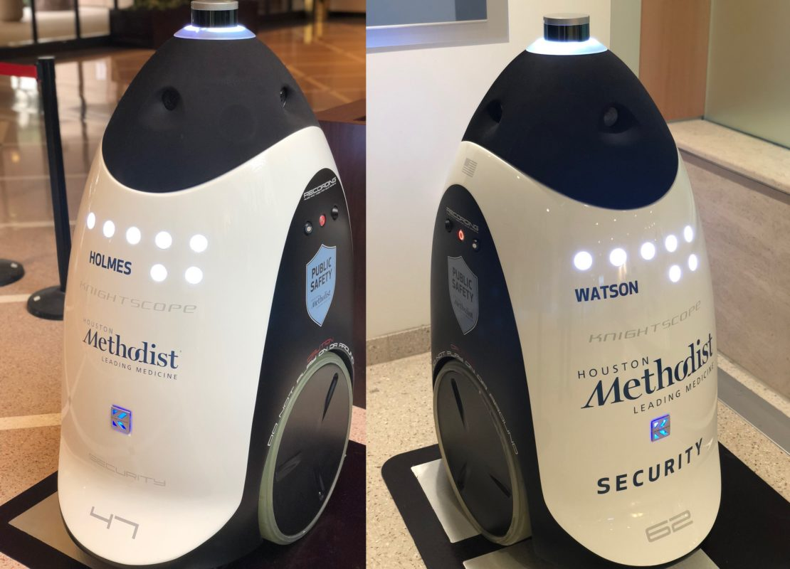 Meet Holmes & Watson: The Robot Security Duo At Houston