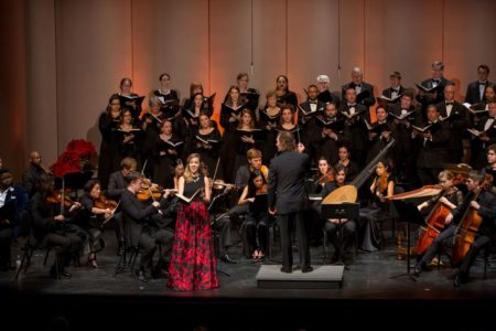 Concert photo of Mercury chamber orchestra and soprano Lauren Snouffer
